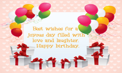 Wish you very happy birth day