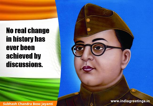 Subhash Chandra Bose Jayant Free Greetings Card