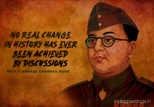 netaji subhash chandra bose jayanti greetings card